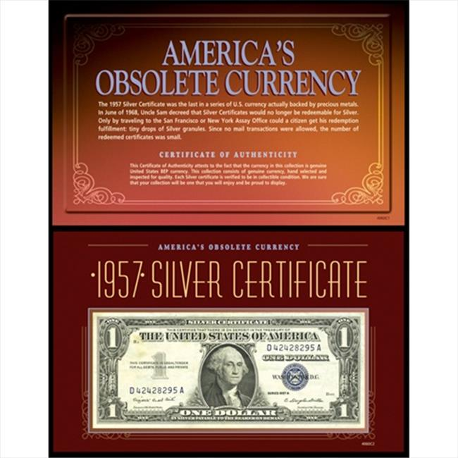 American Coin Treasures 4060 Americas Obsolete Currency - 1957 Silver Certificate