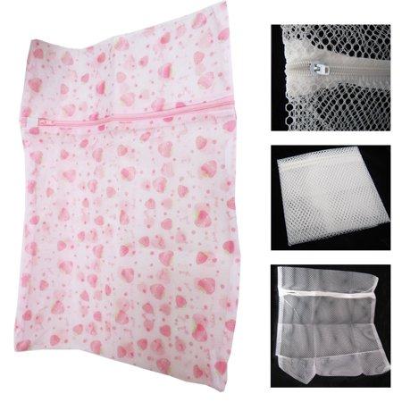 Laundry Bag Mesh Large Clothes Wash Washing Aid Saver Net Zipper Cleaner (Washing Net)
