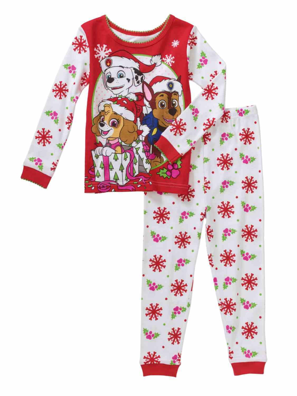 Paw Patrol Christmas Holiday Baby Toddler Pajamas Sleepwear ...