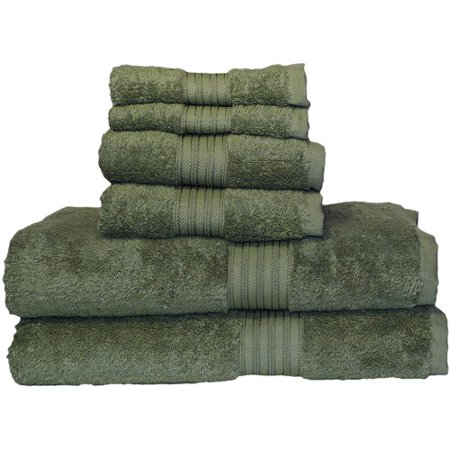 Majestic Egyptian Cotton Bath Towel Set (Egyptian Majestic Oversized Heavy Weight Egyptian Cotton Collection - 6 Piece)