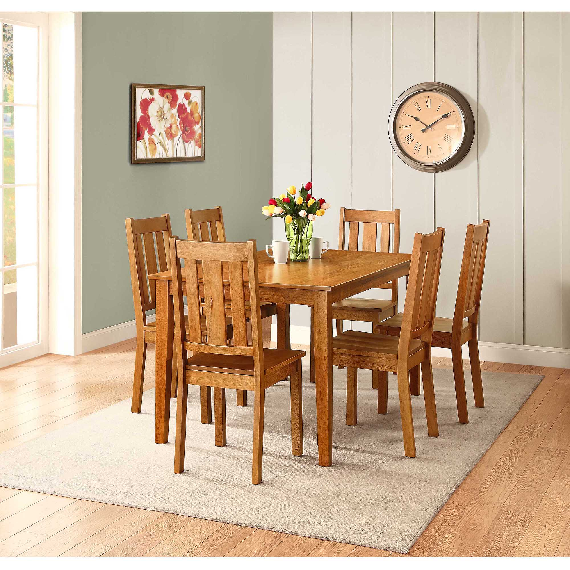 Better Homes and Gardens Bankston Dining Table Honey Walmartcom