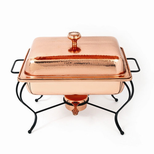 Star Home Copper 6 Qt Rectangle Plated Chafing Dish