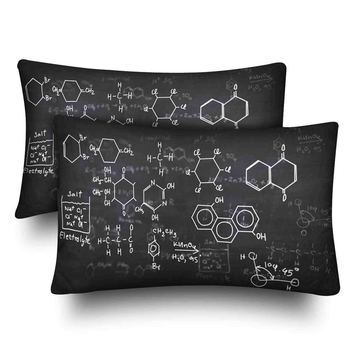 GCKG Chemical Formulas Chalkboard Pillow Cases Pillowcase 20x30 inches Set of 2 - image 4 of 4