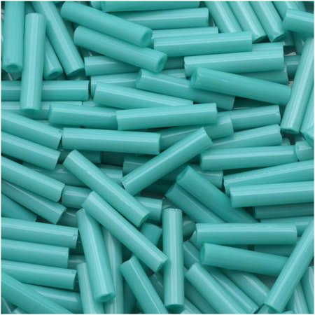 Toho Bugle Tube Beads Size #3 2x9mm Opaque Turquoise 10 Grams