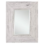 Cooper Classics Wilkes Mirror, Distressed White - 40026