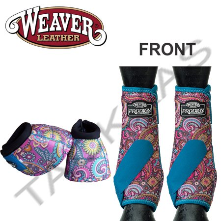 SMALL WEAVER PRODIGY HORSE FRONT NEOPRENE ATHLETIC SPORTS BELL BOOTS PAISLEY