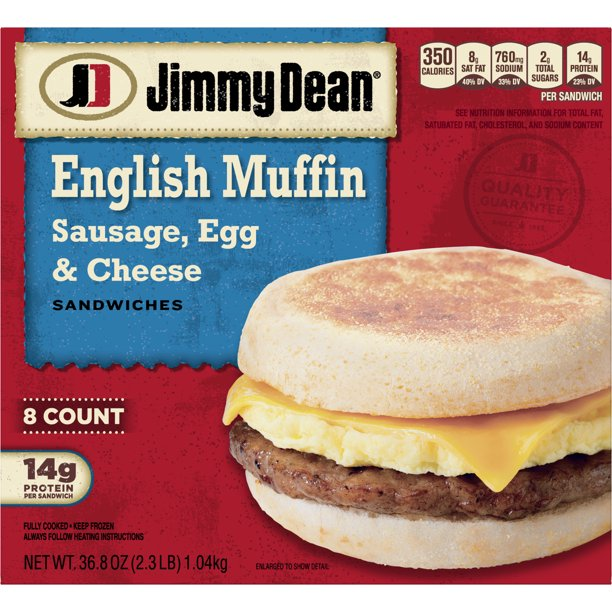 Jimmy Dean® Sausage, Egg & Cheese English Muffin ...