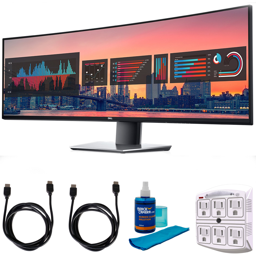 "Dell UltraSharp 49"" QHD 5120x1440 32:9 Curved Monitor (U4919DW) with 2x 6ft High Speed HDMI"