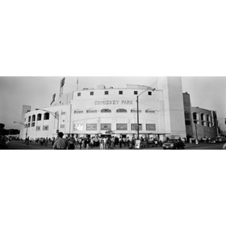 People outside a baseball park old Comiskey Park Chicago Cook County Illinois USA Poster Print (8 x 10) ()
