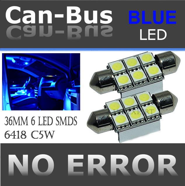 FESTOON 36 mm 6 LED BLUE COLOR  License Plate or Interior Doom Light