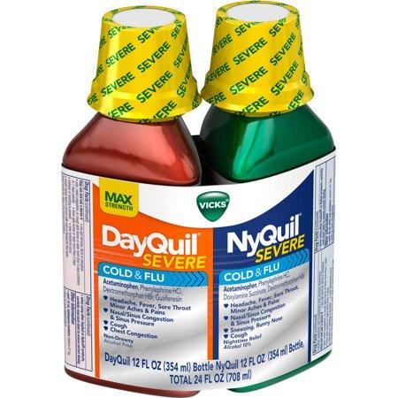 Vicks DayQuil et NyQuil sévère froide et liquide grippe, 24 FL OZ (Pack of 6)