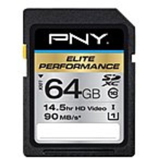 PNY TECHNOLOGIES P-SDX64U395-GE 64GB SDXC CL10 UHS 1 by PNY