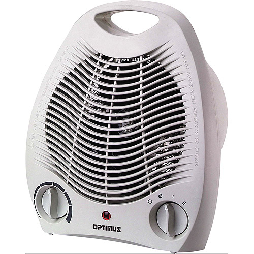 Optimus Electric Portable Fan Heater with Thermostat,  H-1321