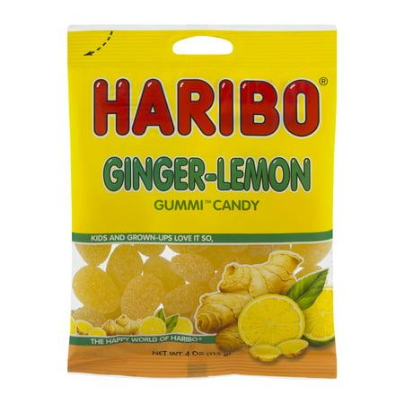 Haribo Ginger Lemon Gummy Candy, 4 - Haribo Gummy Bears Flavors