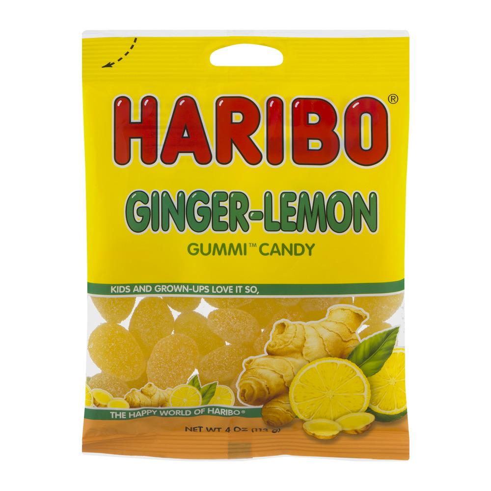 Haribo Ginger Lemon Gummy Candy, 4 Oz.