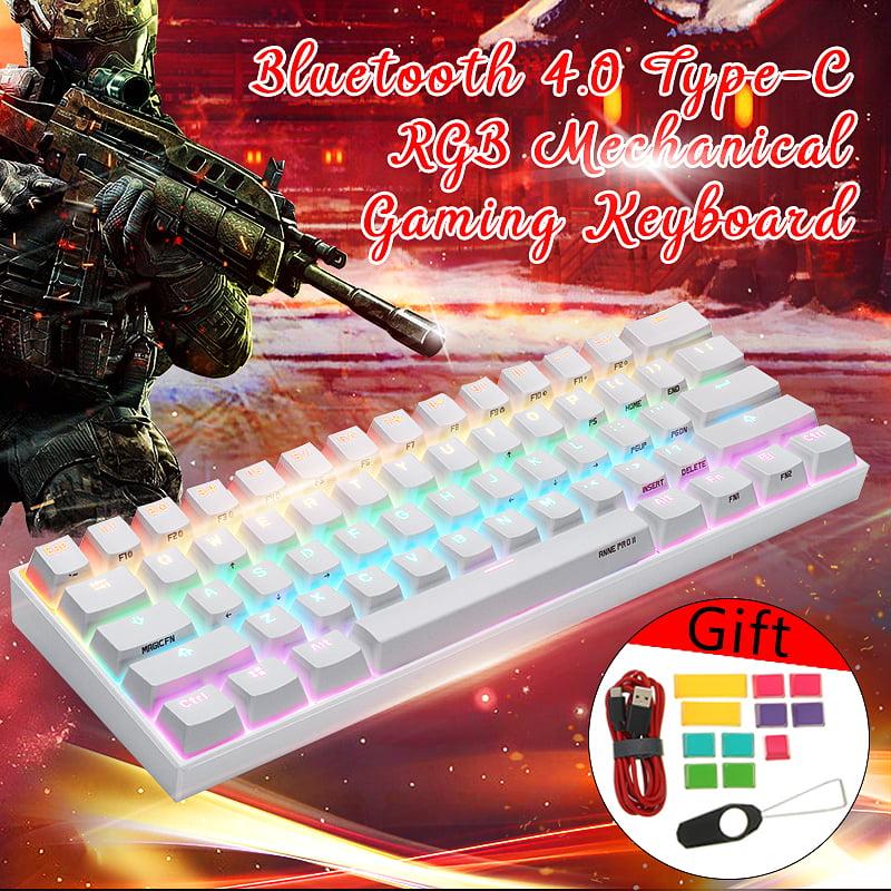 [Gateron Switch]Obins Anne Pro 2 60% NKRO bluetooth 4.0 Type-C RGB Mechanical Gaming Keyboard - White Brown Switch