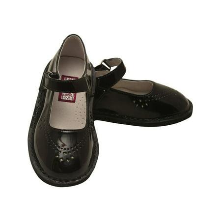 Black Patent Mary Jane Shoes - L'Amour Little Girls Black Patent Perforated Mary Jane Shoes