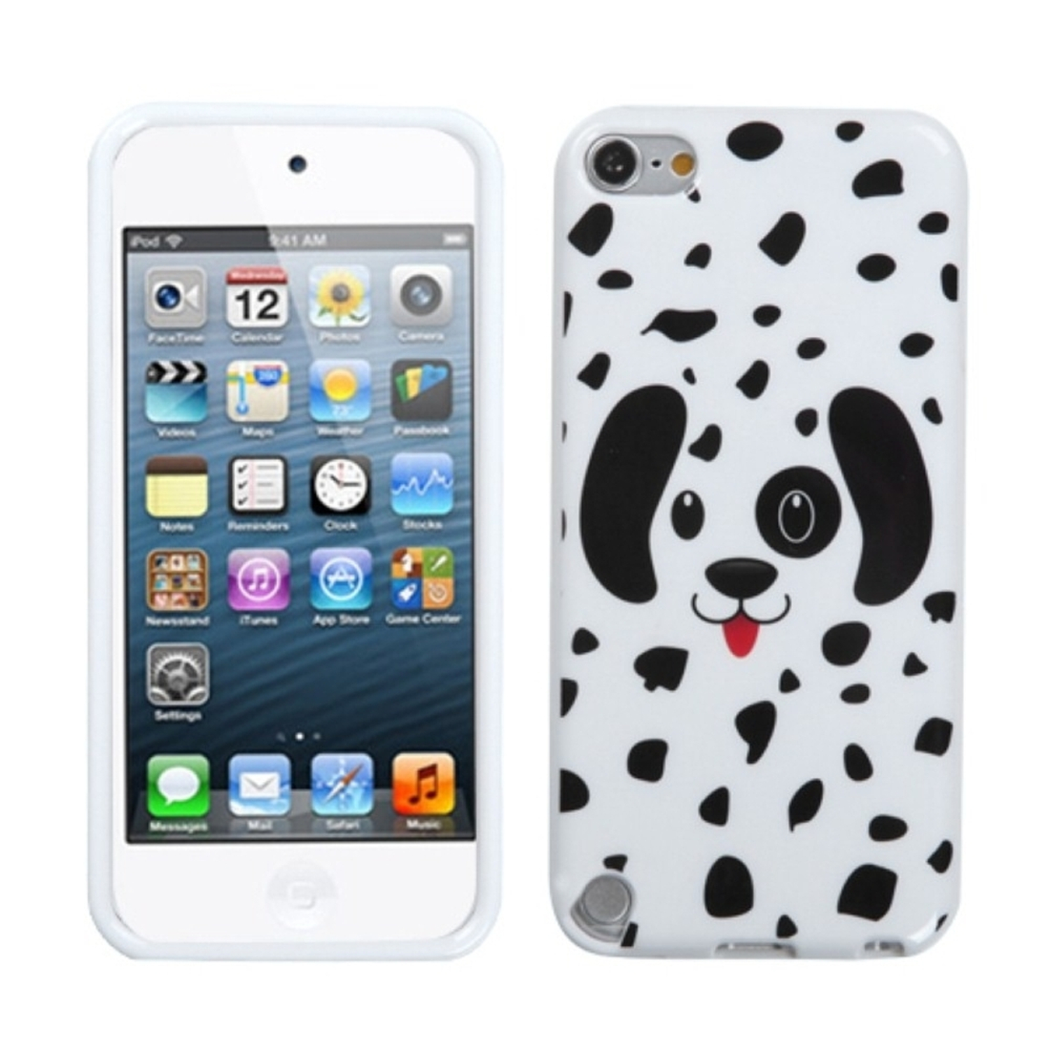 Insten Dotted Dalmatian Candy Skin Case for APPLE: iPod touch (5th 6th Gen 5 6)