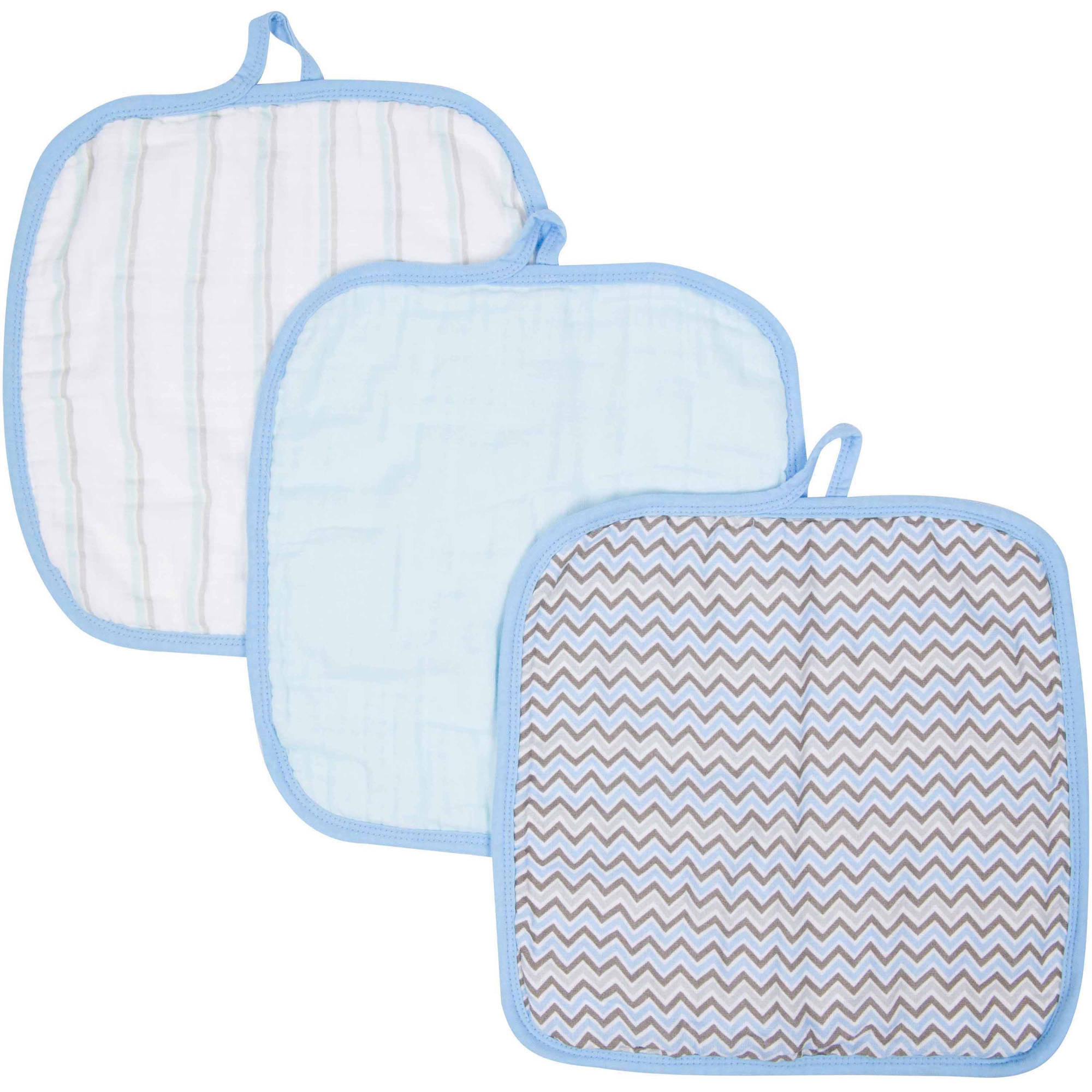 MiracleWare Muslin Cotton Baby Washcloths, 3pk