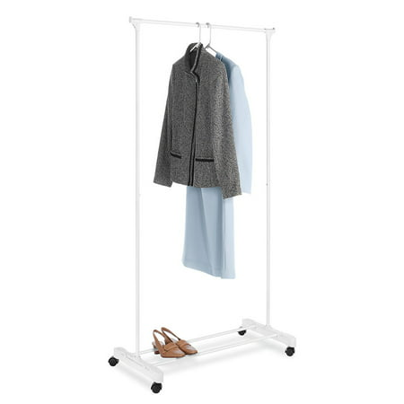 Mainstays Rolling Garment Rack, White
