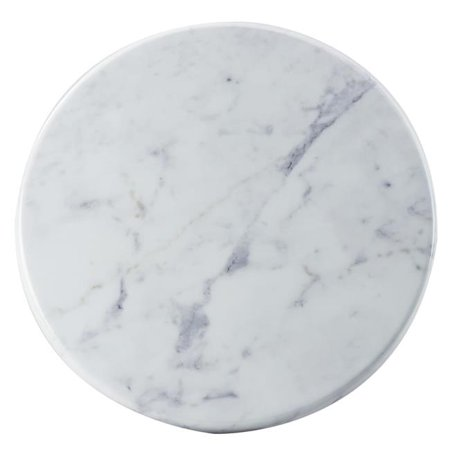 Cal Mil 3656-12-81M Carrara Marble Melamine Tray - 12 dia. x .75 -