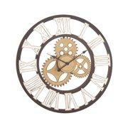 Decmode Industrial 30 Inch Gear Metal Wall Clock