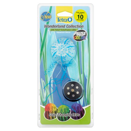 Tetra Wonderland Collection Led Color Changing Jellyfish Aquarium D Cor