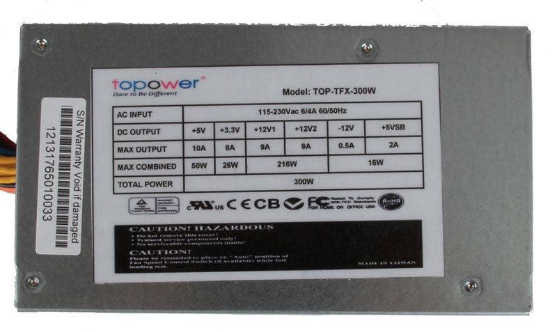 Topower TOP-300W-TFX 300W watt TFX ATX Power Supply PSU New