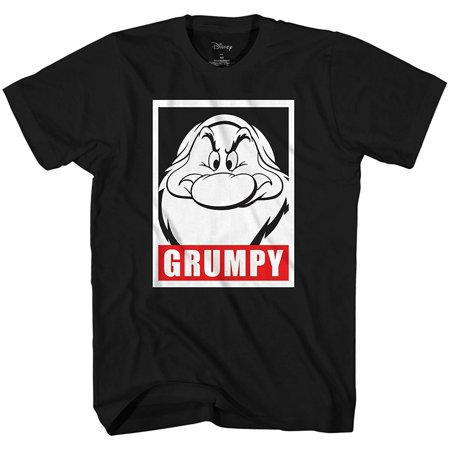 Disney Men's Snow White and Seven Dwarfs Grumpy Frame Face Disneyland World Retro Classic Vintage Tee Funny Humor Adult Mens Graphic T-Shirt Apparel - Funny Family Disney Shirts