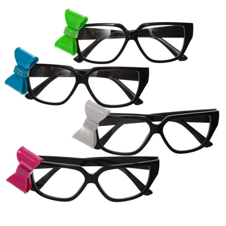 Black Nerd Glasses With Bow - Nerd Galsses