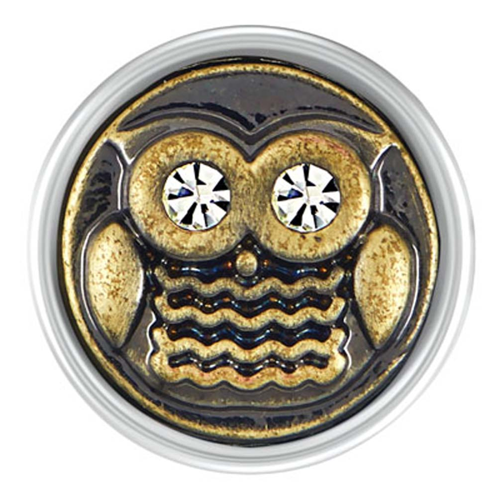 Ginger Snaps Petite Antique Brass Owl Snap GP20-03