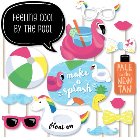 Pool Party Theme Ideas (Make A Splash - Pool Party - Summer Swimming Party or Birthday Party Photo Booth Props Kit - 20)