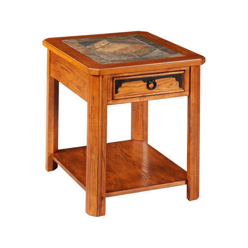 Broyhill Quail Valley Drawer End Table in Oak