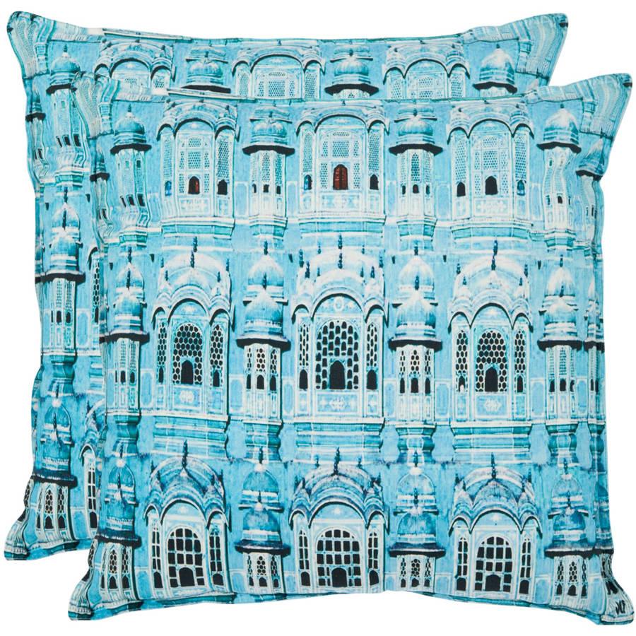 Safavieh Verona Turquoise Pillow, Set of 2