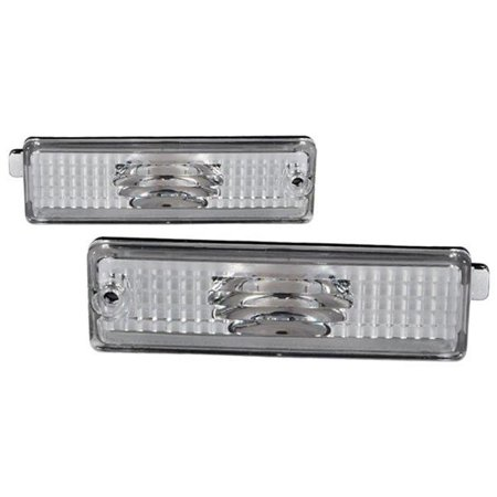 spec d tuning lbr-cmr93-rs 1993-2001 chevy camaro bumper lights - clear