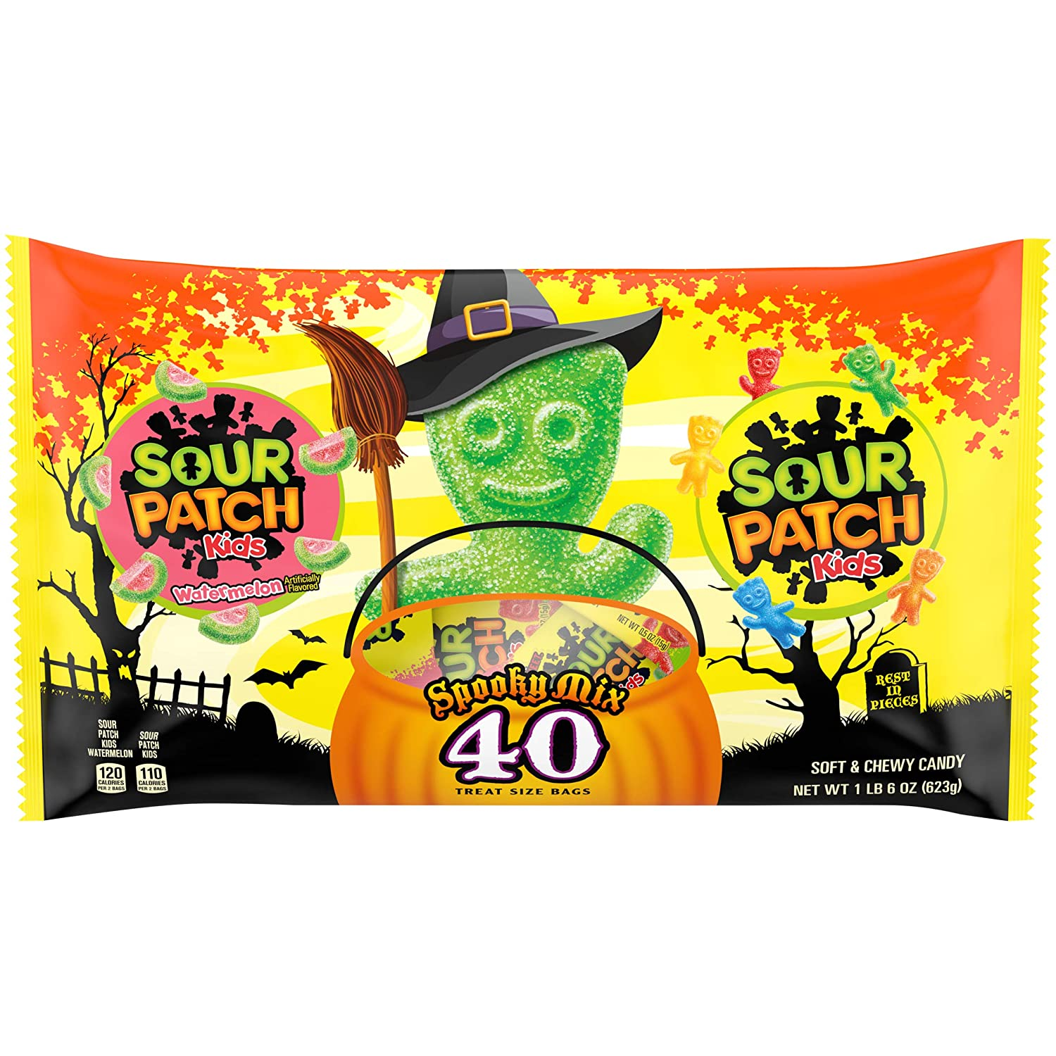 Sour Patch Kids Seasonal Treat Size Halloween Candy, 1 Pack of 22 Ounce -  Walmart.com - Walmart.com