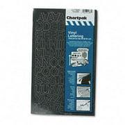 Chartpak-Pickett 01030 Press-On Vinyl Self Adhesive Letters & Numbers, Black - 1 in. High