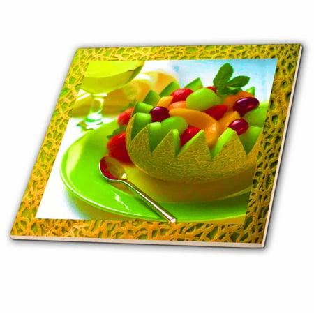 3dRose Melon Fruit Salad - Ceramic Tile, - Melon Salsa