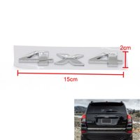 Areyourshop Car Emblem Badge Decal Sticker 4x4 Chrome for JEEP Grand Cherokee SUV