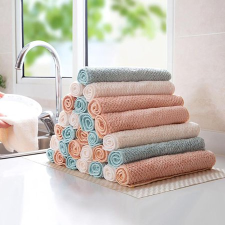 3pcs Kitchen Dishcloth Nonstick Oil Coral Velvet Hand Towels Wiping Scouring Pad Bathroom Washing Cloth - image 8 of 8