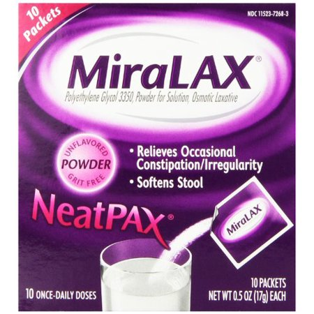 3 Pack Miralax Single Dose Sachets 10 Sachets 0 5 Oz