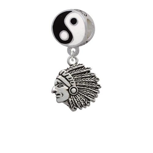 Large Indian - Mascot - Yin Yang Charm Bead