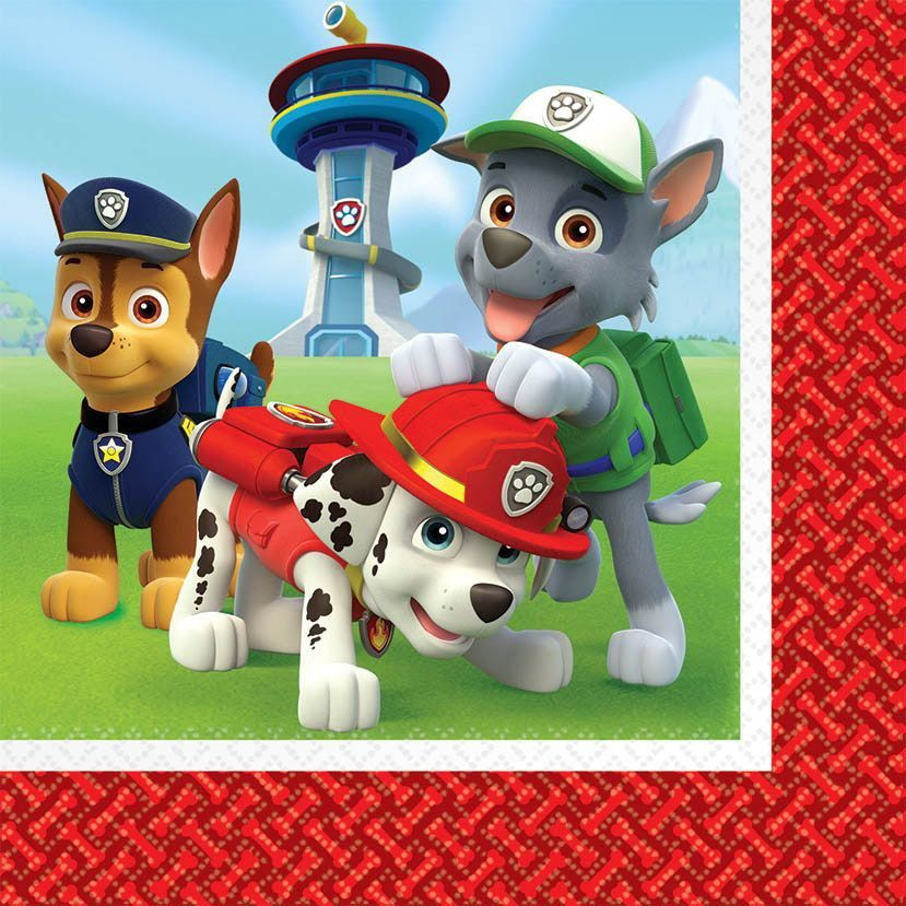 Paw Patrol Party Supplies 48 Pack Lunch Napkins