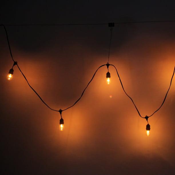 24pcs light bulb curtain string lights for bedroom starry