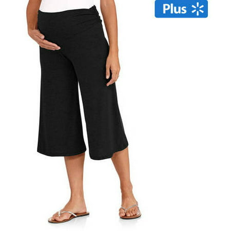 Planet Motherhood Maternity Plus-Size Gaucho Pants - Walmart.com