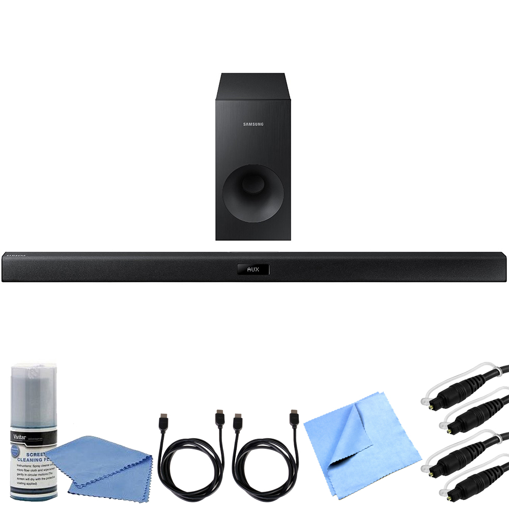 Samsung HW-J355  - 2.1 Channel 120 Watt Wired Bluetooth Audio Soundbar Bundle