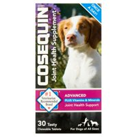 Nutramax Cosequin Advanced Strength Joint Health Plus Vitamins & Minerals Chewable Tablets Dog Supplement, 30 Tablets