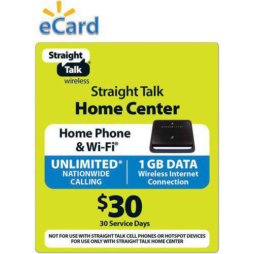 Straight Talk $30 Wireless Home Phone - Unlimited Talk and 1 GB / 30 Access Days (Email Delivery)