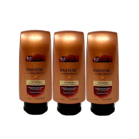 Lot Of 3 Pantene Pro V Truly Natural Hair Co Wash Cleansing Conditioner
