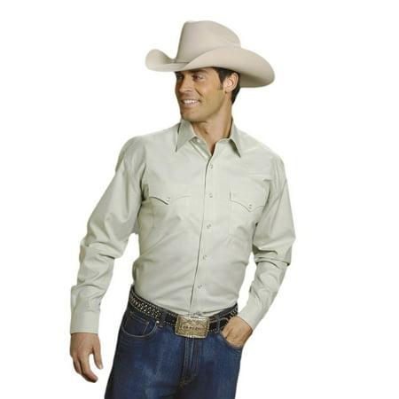 Stetson Western Shirt Mens L/S Snap Green 11-001-0465-1027 GR